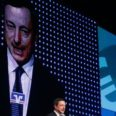 European Central Bank President Draghi speaks during Economy Day in Frankfurt