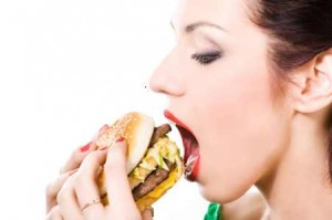 woman-eating-hamburger