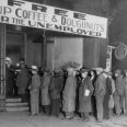 16 Nov 1930, Chicago, Illinois, USA --- Notorious gangster Al Capone attempts to help unemployed men with his soup kitchen