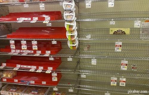 Shelves Are Empty